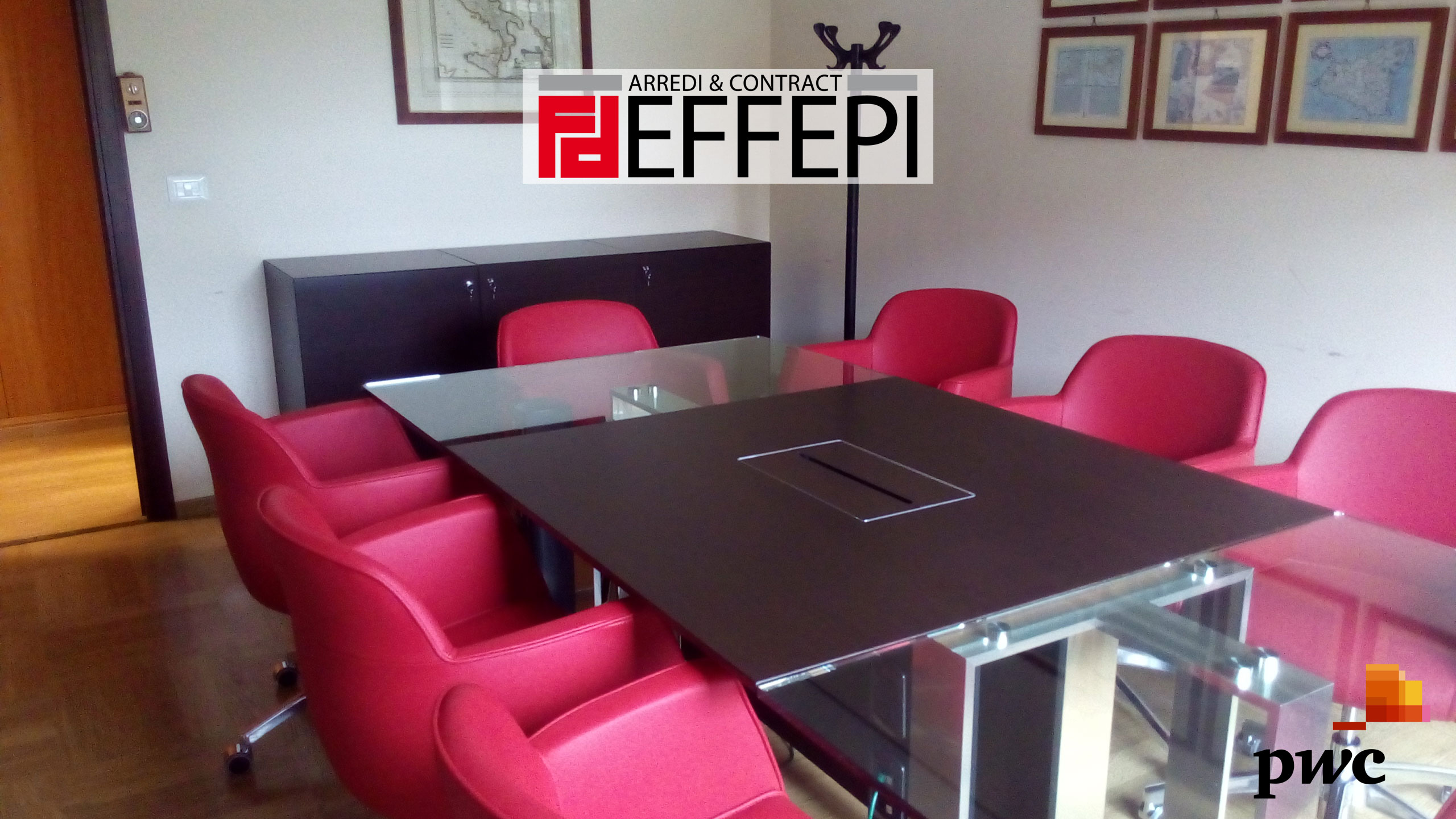 Arredi ufficio a Palermo per la sede PWC - Effepi Arredi & Contract  Arredi in Sicilia