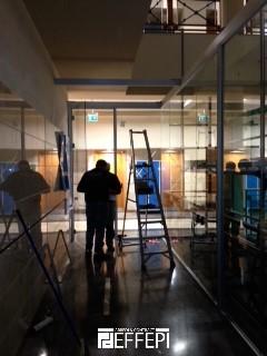 Montaggio e fornitura pareti vetrate